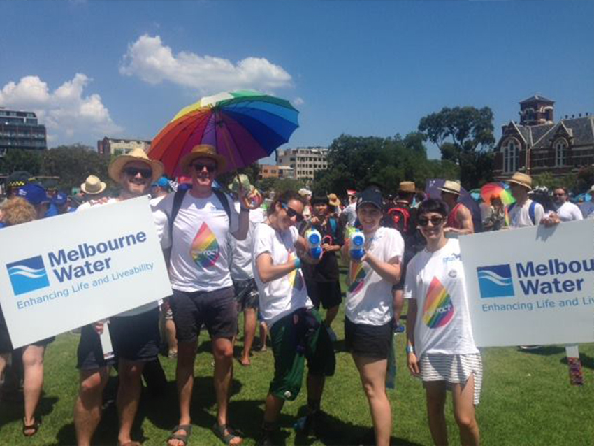 Melbourne Water Refract at Midsumma Pride March