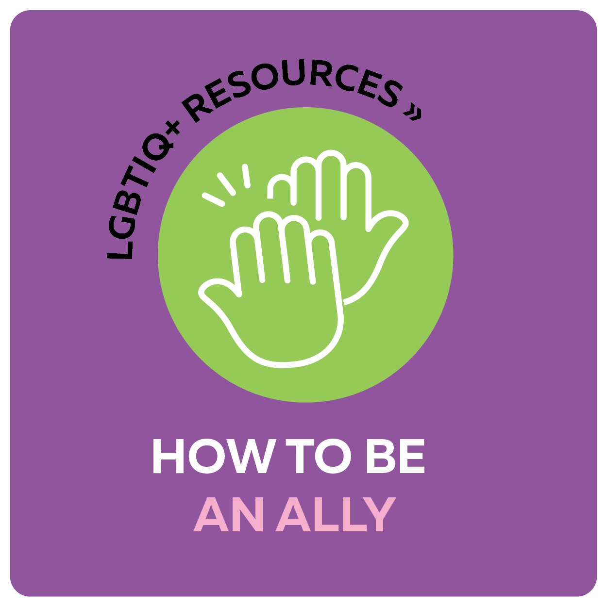 LGBTIQ+ resources - how to be an ally